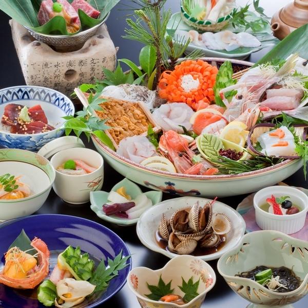 海の幸を中心とした会席料理